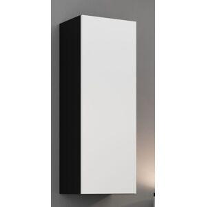 CAMA MEBLE Vigo 90 skrinka na stenu čierna / biely lesk