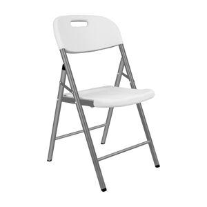 NABBI Vivas cateringová stolička sivá / biela