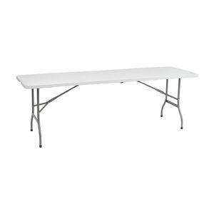 NABBI Vivas cateringový skladací stôl 244x75 cm sivá / biela