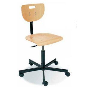 NABBI Werek otočná dielenská stolička na kolieskach buk