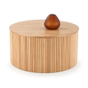 HALMAR Woody okrúhly konferenčný stolík prírodná