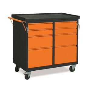 NABBI WW01G/EE dielenský vozík na kolieskach so zámkom grafit / oranžová