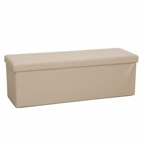 TEMPO KONDELA Zamira skladacia taburetka s úložným priestorom hnedá
