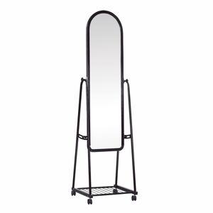 TEMPO KONDELA Dumas zrkadlo na kolieskach čierna