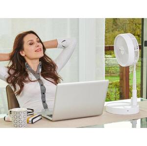 Prenosný bezkáblový ventilátor Rovus, biela